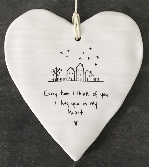East of India | Every Time I Think of You Ceramic Round Heart