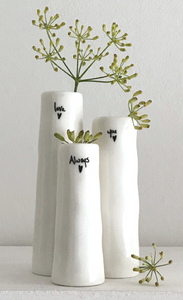East of India | Trio Bud Vases - Love You Always
