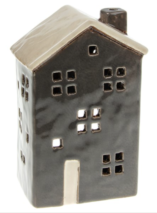 Village Pottery | Town House Tall Grey Tealight Holder