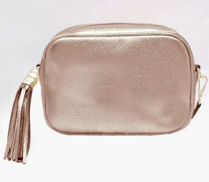 Leather Camera Bag | Rose Gold