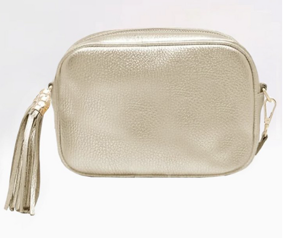 Leather Camera Bag | Champagne