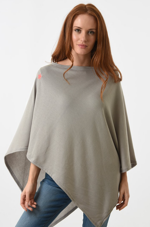Light Grey Poncho