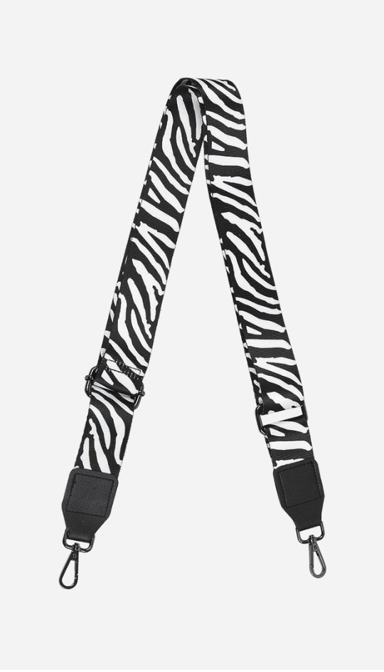 Black & White Zebra Bag Strap