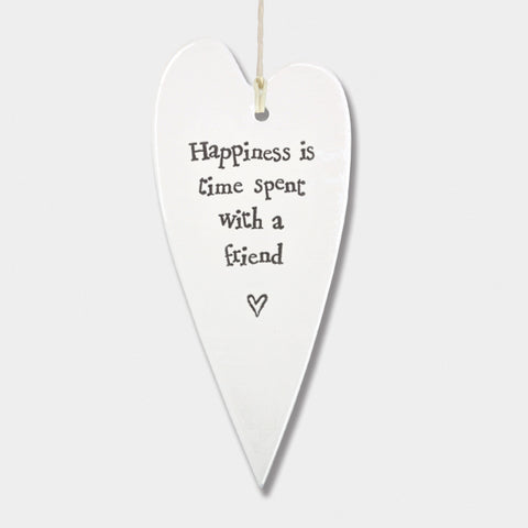 East Of India | Happiness Porcelain Heart Ornament