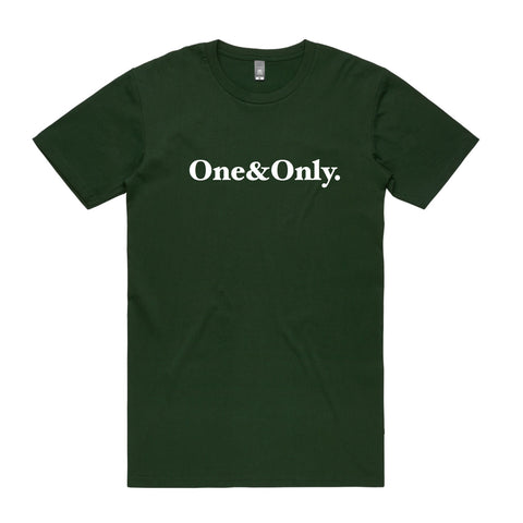 ONE&ONLY.  Forest Green/White