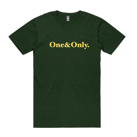 ONE&ONLY.  Forest Green/Yellow