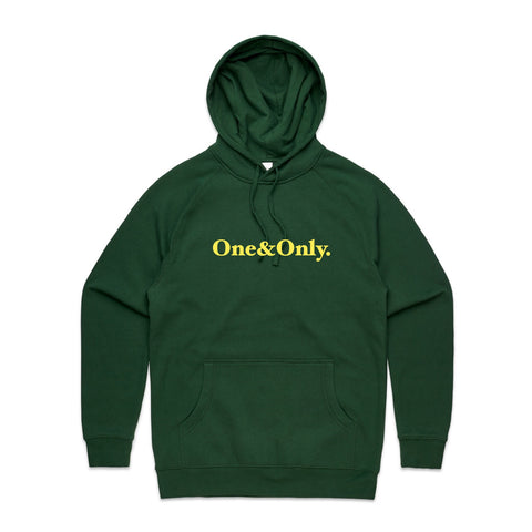 ONE&ONLY. Gold/Forest Green
