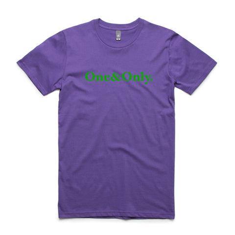ONE&ONLY.  Purple/Green