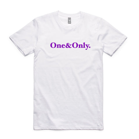 ONE&ONLY.  White/Purple