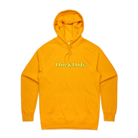 ONE&ONLY. Yellow Black Outline/Gold
