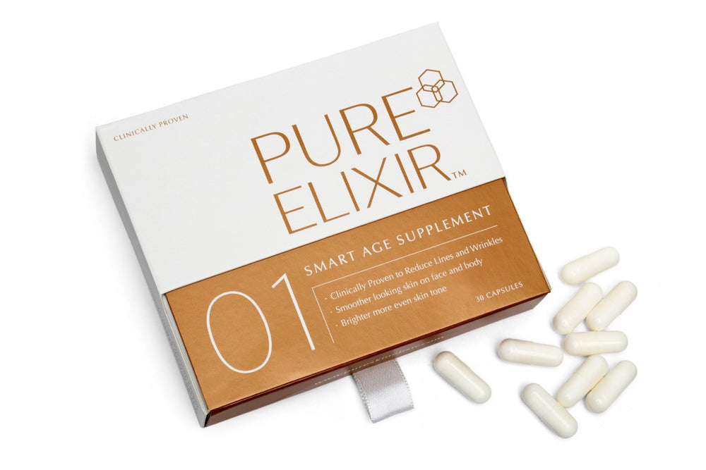 Pure Skin Elixir 01 SMART Age Supplement - Voted Best Collagen Supplement by The Goodhousekeeping Institute - Only £1.17 per day!*