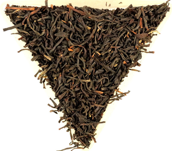Assam Cherideo Purbat Orange Pekoe Organic Loose Leaf Black Tea Gently Stirred
