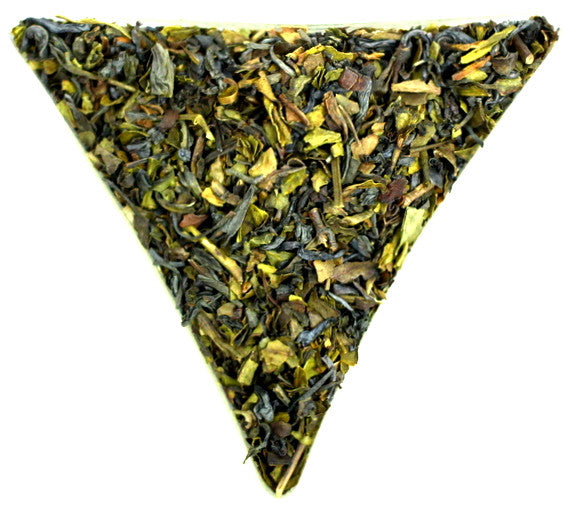 Azores Hysson Green Organic Loose Leaf Tea Gently Stirred