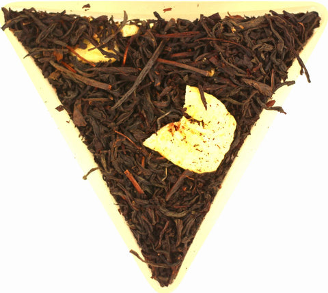 Banana Flavoured Loose Leaf Black Tea Gently Stirred