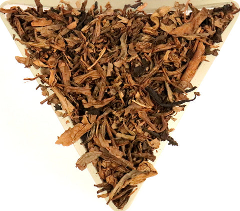 Chinese Organic Orange Pekoe Black Decaffeinated Loose Leaf Tea Gently Stirred