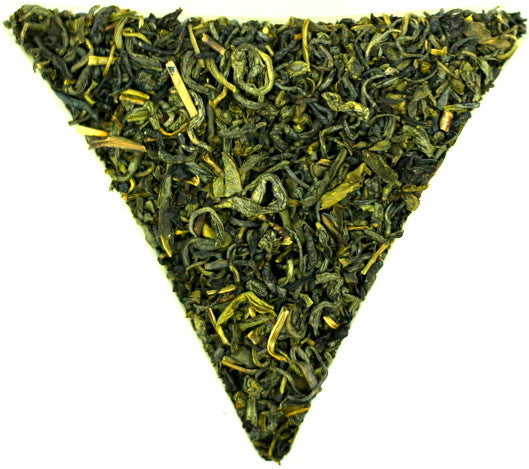Chun Mee Green Loose Leaf Chinese Tea Gently Stirred