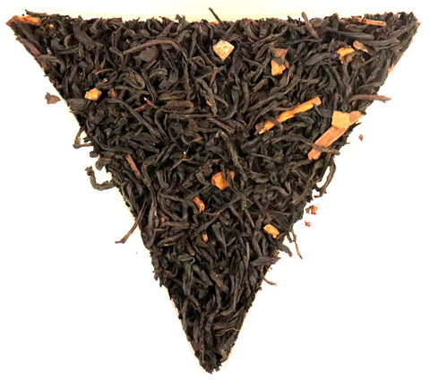 Cinnamon Flavoured Loose Leaf Black Tea Gently Stirred