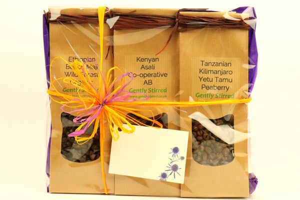 Coffee Gift Pack Our Dark and Strong Collection From Around the World Whole Bean
