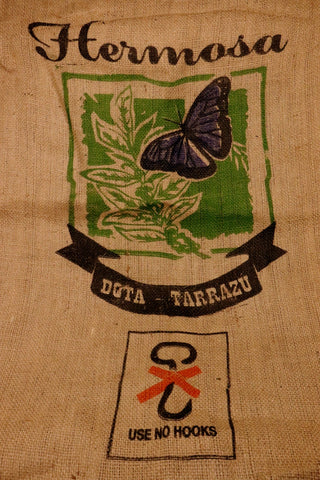 Hessian Coffee Sack From Costa Rica Previously Held Green Beans Many Uses