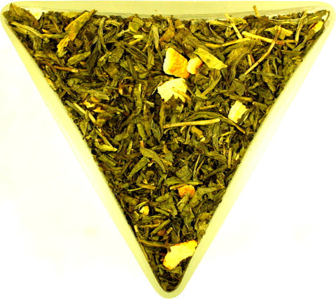 Earl Grey Decaffeinated Sencha Healthy Green Tea Leaves Gently Stirred