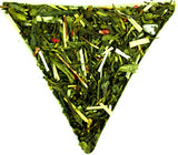 Pai Mu Tan Sencha Japanese Twig Tea Dragon Fruit Pomegranate Loose Leaf Tea Gently Stirred