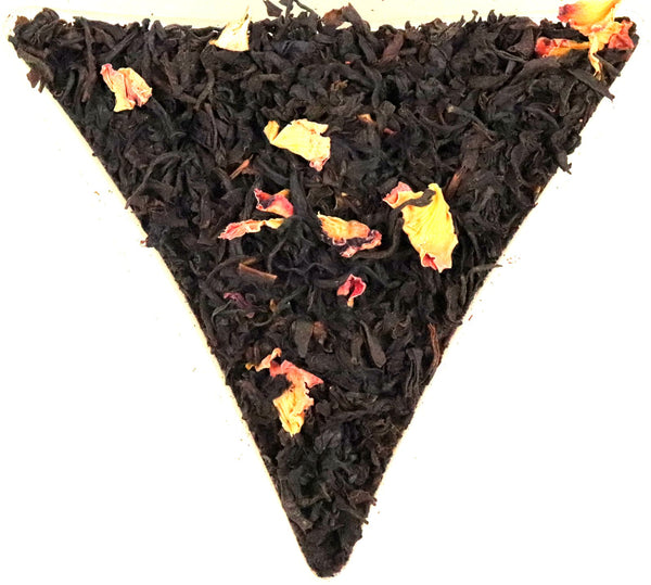 Earl Grey Rose Loose Leaf Black Tea Gently Stirred