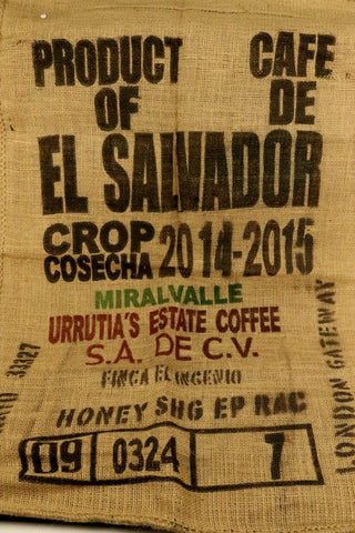 Hessian Coffee Sack From El Salvador Previously Held Green Beans Many Uses