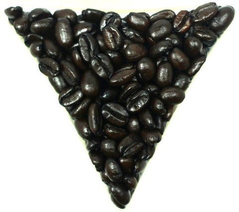 Ethiopian Mocha Djimmah Dark Roast Whole Coffee Beans Gently Stirred