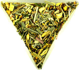 Harry Fisher's Ginger Fresh Tea Blend Caffeine Free Ginger Lemongrass and Liquorice Gently Stirred