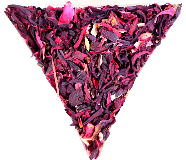 Hibiscus Flower Cut Healthy Caffeine Free Tea Tisane Gently Stirred