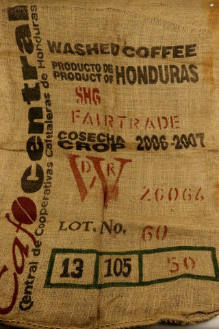 Hessian Coffee Sack From Honduras Previously Held Green Beans Many Uses