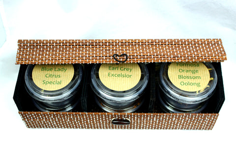 Earl Grey Tea Experience - In Fine Bamboo Gift Box - Six Individual Choice Loose Leaf Teas