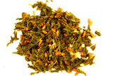 Japanese Genmai Cha Kirishima Organic Traditional Loose Leaf Green Tea Gently Stirred