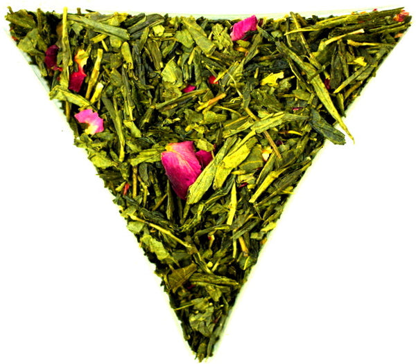 Japanese Sencha Sakura Loose Leaf Green Tea Healthy Wonderful Cherry Flavour And Aroma Gently Stirred
