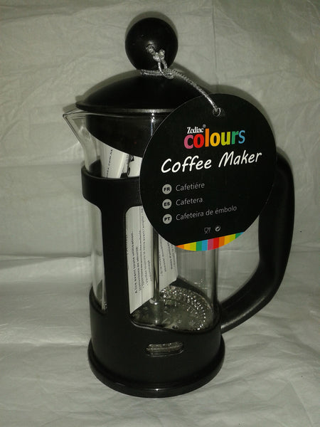 Cafetiere 3 Cup Small Black Coloured Free Coffee Sample Makes Wonderful Coffee Dishwasher Safe - Gently Stirred