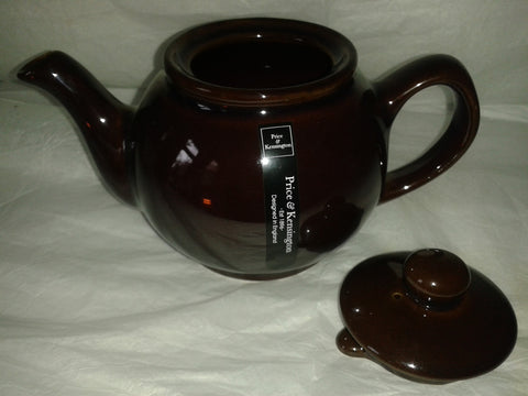 Brown Betty Style Teapot 2 Cup Size Includes Tea Sample. Price & Kensington. - Gently Stirred