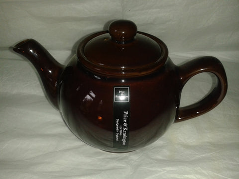 Brown Betty Style Teapot Large 4 Cup Includes Tea Sample. Price & Kensington. - Gently Stirred