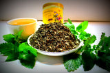 Lemon Balm Tea - Melissa Officinalis - Wonderful For Relaxation And Calming- - Gently Stirred