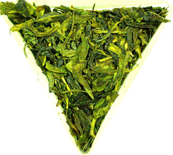 Lung Ching No 1 Organic Dragon Well Green Tea Gently Stirred