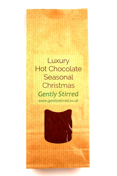 Luxury Hot Chocolate Powder Seasonal Christmas Gently Stirred