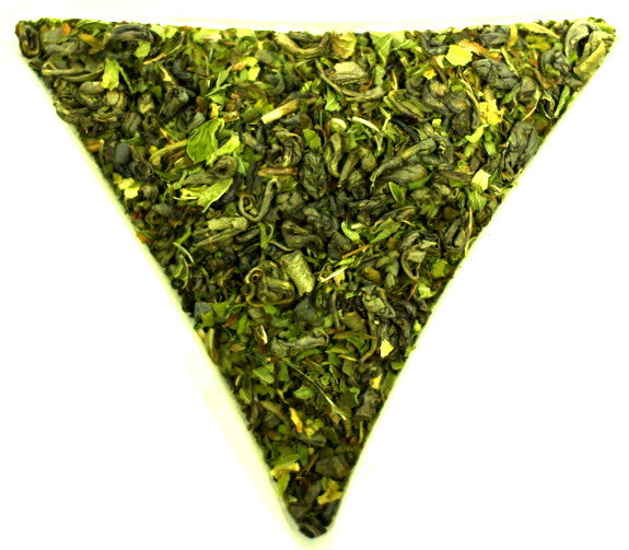 Gunpowder Maghrebi Mint Tea Healthy Green Tea and Moroccan Nana Spearmint Traditional Gently Stirred
