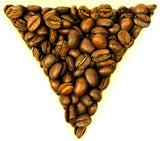 Mexican Huatusco Veracruz Whole Roasted Coffee Beans Gently Stirred