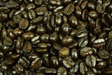 Mexican Oaxaca Finca La Aurora Coffee Beans Medium Dark Roast Gently Stirred