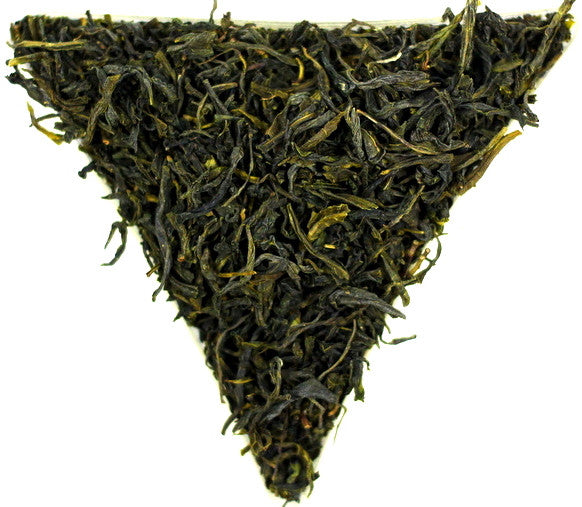 Chinese Misty Green Organic Loose Leaf Tea Gently Stirred
