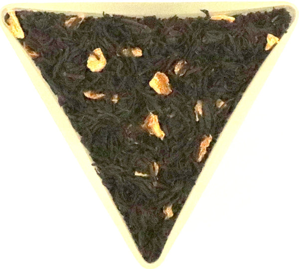 Organic Lime Flavour Black Loose Leaf Tea With Dried Peel Chinese Quality Unusual