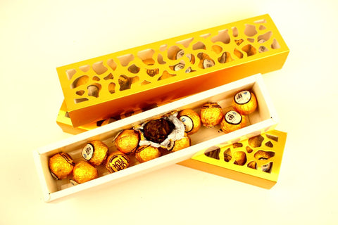 Pai Mu Tan Golden Tea Balls Gift Box Perfect Present Gently Stirred