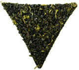 Gunpowder Passion Fruit Guava and Mango Flavoured Loose Leaf Healthy Green Tea Gently Stirred