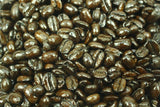 Peruvian Organic Fair Trade Martin Suacedo Fernandez Dark Roast Whole Coffee Beans Gently Stirred