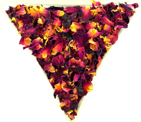 Red Rose Petal Tea Or Tisane High In Antioxidants Vitamin C Healthy Skin And Hair Lovely Smell And Taste Gently Stirred