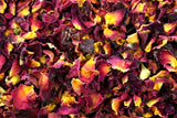 Red Rose Petal Tea Or Tisane - High In Antioxidants Vitamin C - Healthy Skin And Hair - Lovely Smell And Taste - Gently Stirred